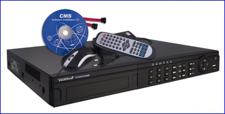 TechSon DVR LN4008H kamera rendszer és videó rögzítő