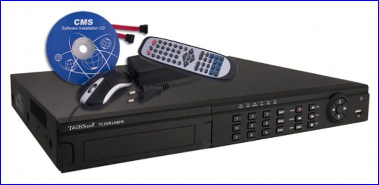 TechSon DVR LN4016H kamera rendszer és videó rögzítő