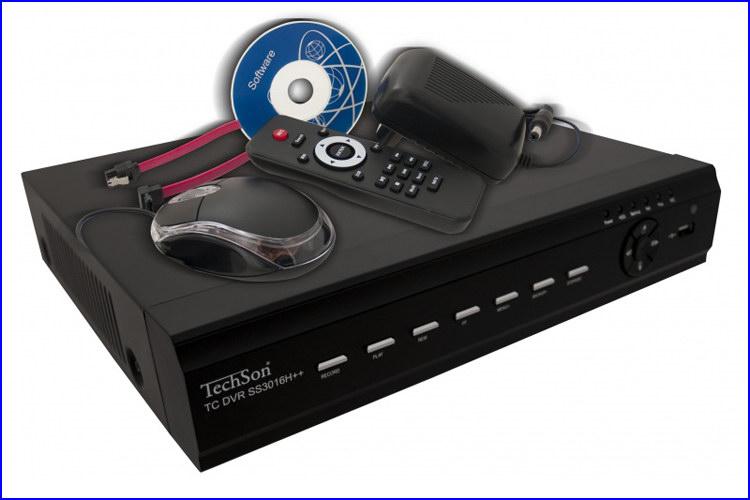 TechSon DVR SS3016H++ kamera rendszer és videó rögzítő